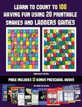 Worksheets for Kids (Learn to count to 100 having fun using 20 printable snakes and ladders games)