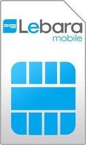 Lebara 4G Prepaid simkaart met direct: €5 en 200MB internet + gratis €10 en 700MB na opwaarderingen