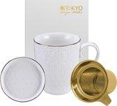 Tokyo Design Studio Nippon White Theemok Set. Inclusief Theefilter en Teatip. In fraai Geschenkdoosje.