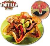 Perfect Tortilla Set van 4 Bakvorm voor tortilla's Ovenschaal
