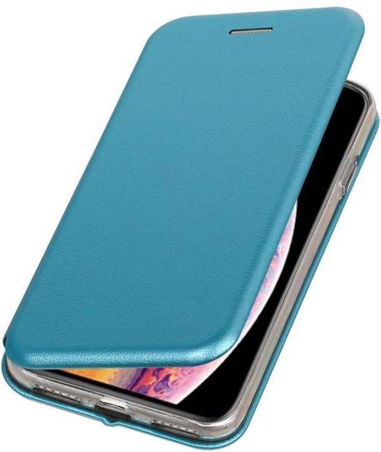 Bestcases Hoesje Slim Folio Telefoonhoesje iPhone XS Max - Blauw