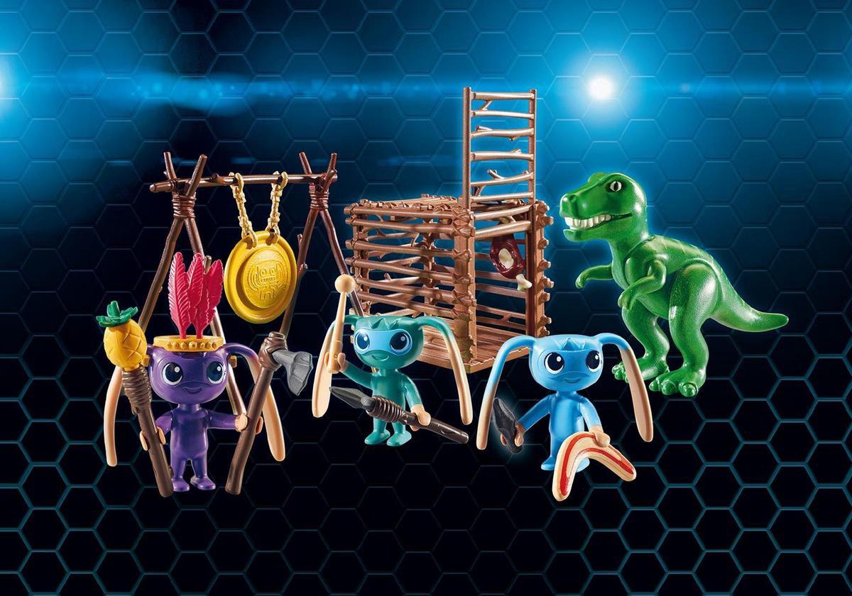 Playmobil Super 4: Alien Krijgers Met T-rex (9006)