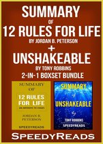 Omslag Summary of 12 Rules for Life: An Antidote to Chaos by Jordan B. Peterson + Summary of Unshakeable by Tony Robbins 2-in-1 Boxset Bundle