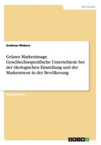 Grunes Markenimage. Geschlechtsspezifische Unterschiede Bei Der Okologischen Einstellung Und Der Markentreue in Der Bevolkerung