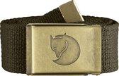 Fjallraven Canvas Brass Belt 4 cm Kledingriem - Dark Olive