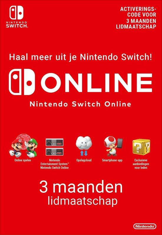 3 maanden Online Lidmaatschap - Nintendo Switch Download