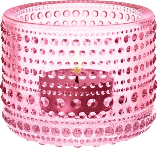 Iittala Kastehelmi Waxinelichtjeshouder - Sfeerlicht - h 6,4 cm - Lichtroze