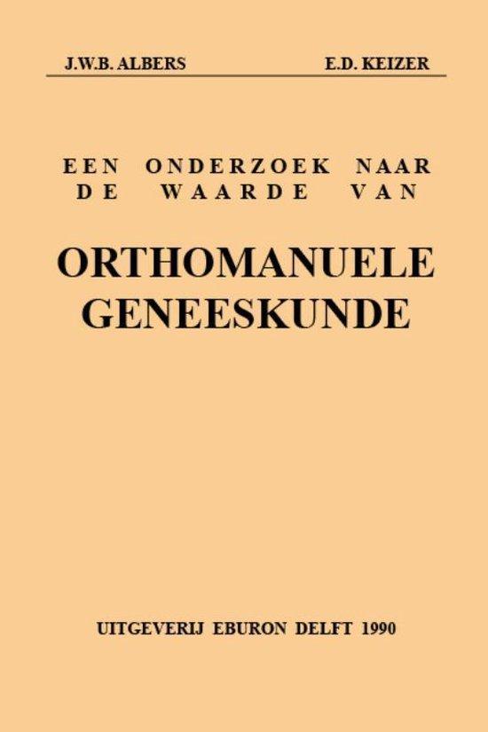 Onderzoek waarde orthomanuele geneeskund - J.W.B. Albers | Fthsonline.com