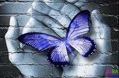 """Diamond Painting """"JobaStores®"""" Handen Blauw - volledig - 40x30cm"""