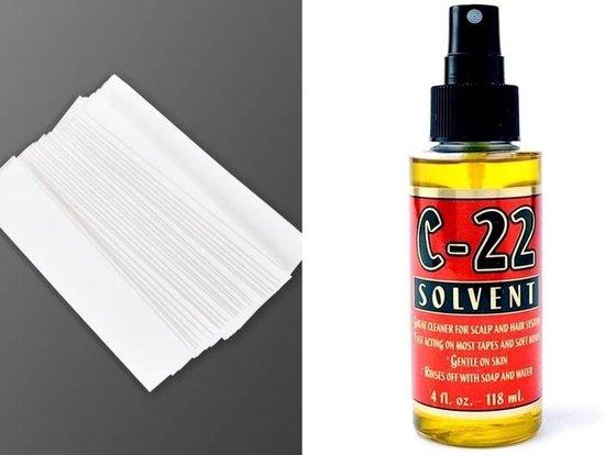 Combo_Ultra Tape Recht (35 stuks)  Glue/ Lijm + C-22 Glue remover/ Lijm verwijder vloeistof