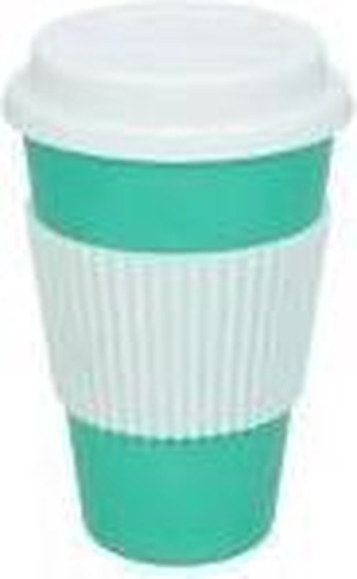 Koffie beker to go Turquoise