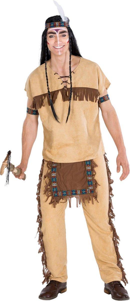 dressforfun 300608 Herenkostuum Indiaan Black Hawk voor heren mannen XXL verkleedkleding kostuum halloween verkleden feestkleding carnavalskleding carnaval feestkledij partykleding