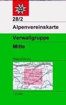 DAV Alpenvereinskarte 28/2 Verwallgruppe - Mitte 1 : 25 000