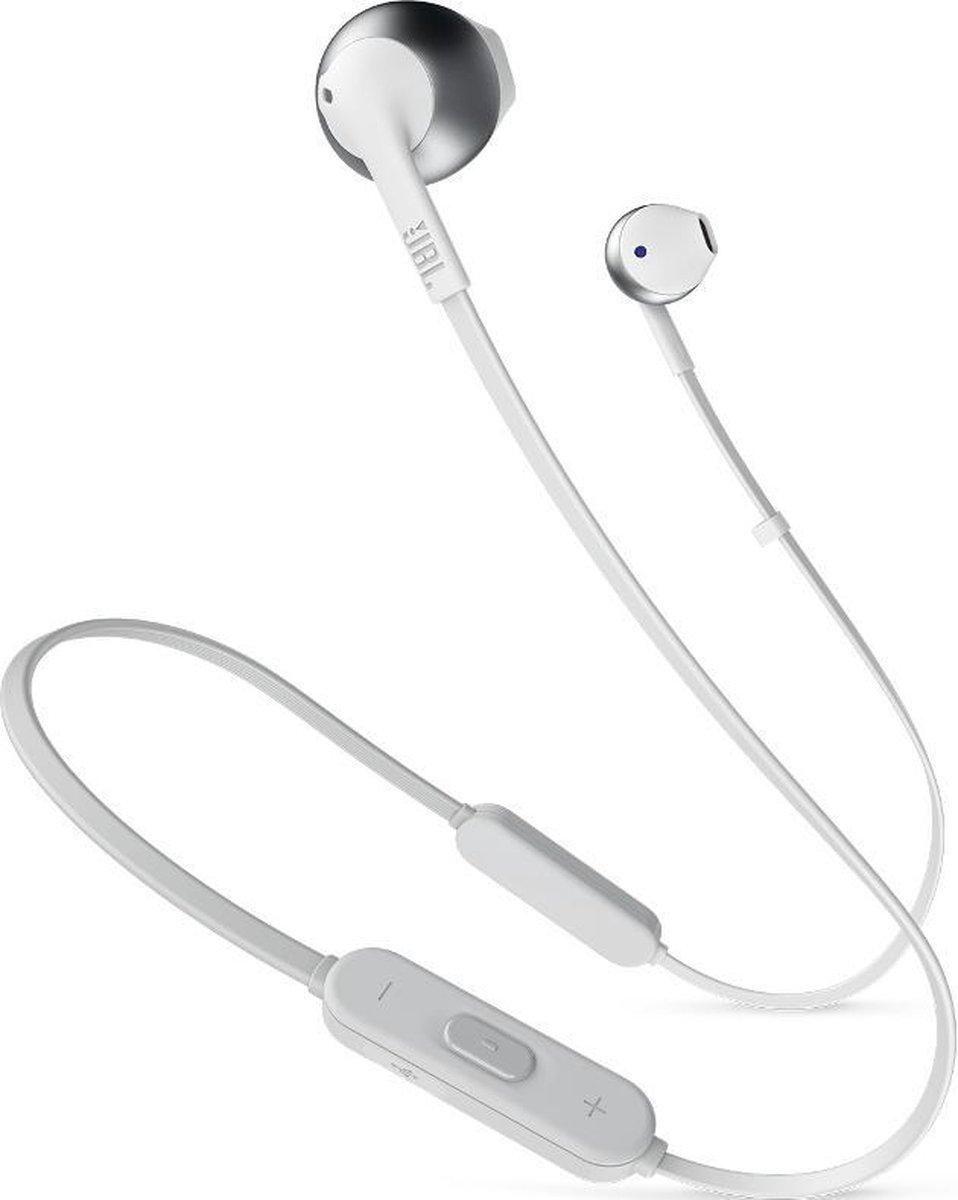 JBL T205BT Zilver - In-ear oordopjes