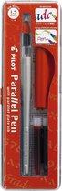 Pilot Parallel Pen 1.5mm + doosje 12 kleuren inktpatronen