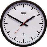 Balance Time Zendergestuurde Wandklok 30 cm Analoog - Zwart/Wit