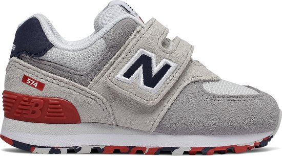 bol.com | New Balance 574 Sneakers Kinderen - White/grey ...
