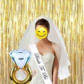 Bride To Be Versiering Decoratie Set Sjerp/Sluier/Ring - Vrijgezellenfeest Team Accessoires