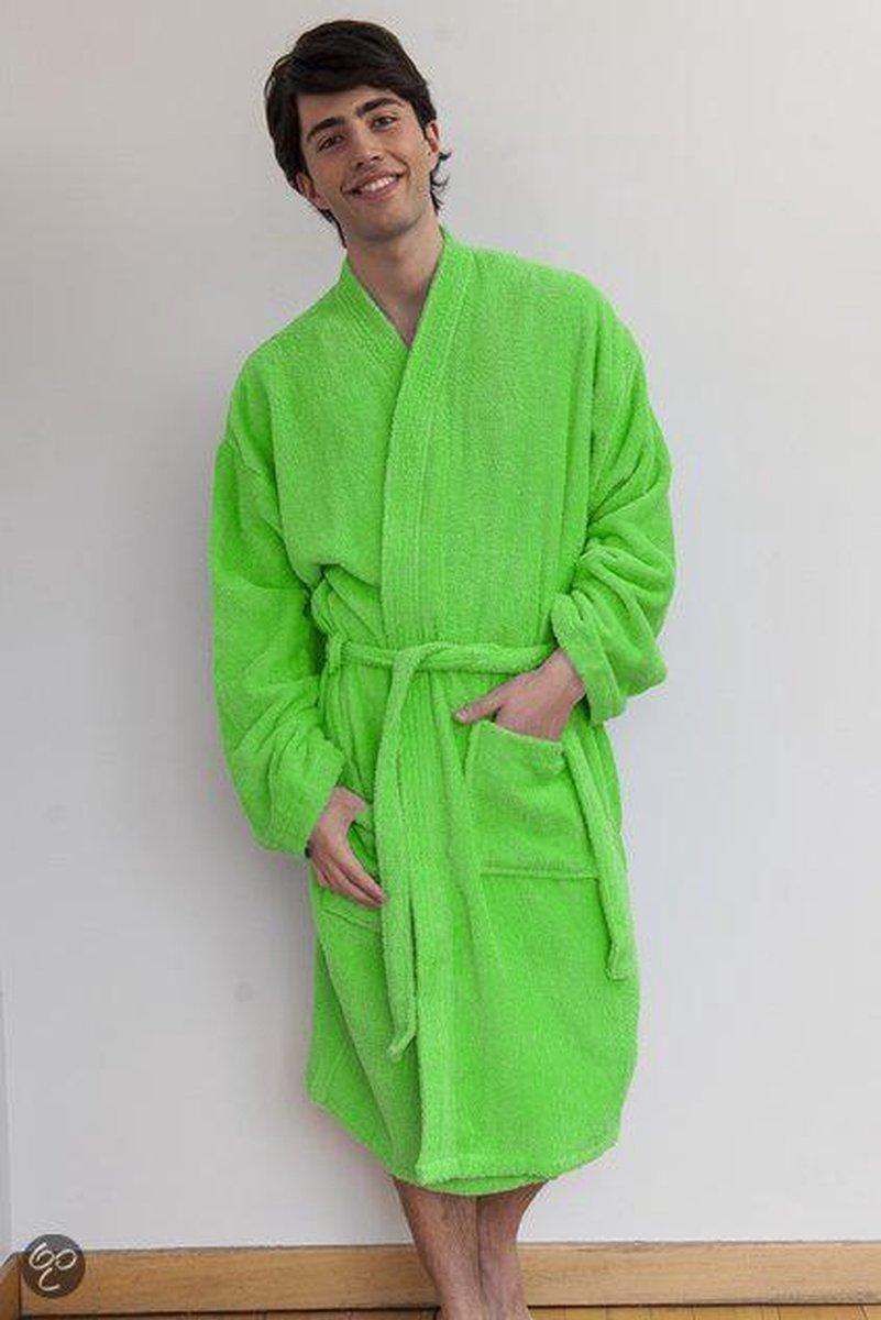 Comfy Co Kimono Robe badjas, kleur Lime, Maat L/XL - Comfy Co.