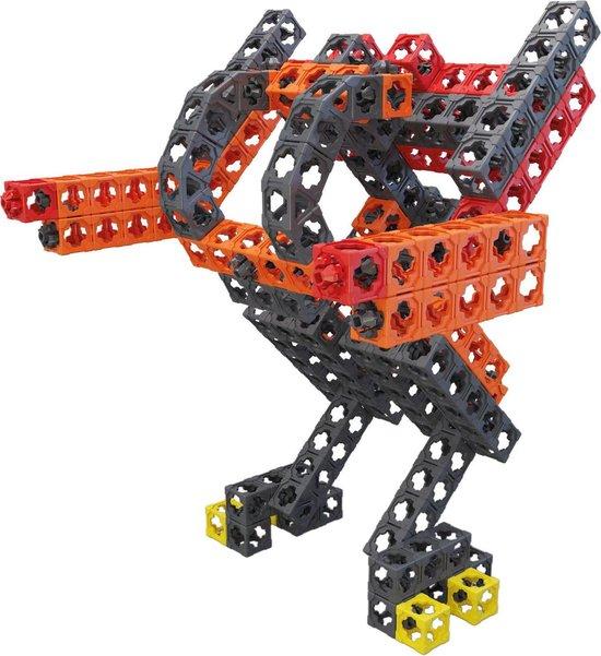 Twickto bouwset - constructie pakket - Creatie 3 - 235 delig - rood, grijs en oranje