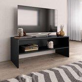 vidaXL Tv-meubel 100x40x40 cm spaanplaat zwart  VDXL_800046