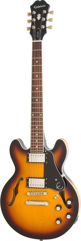 Epiphone ES339 PRO Vintage Sunburst semi-akoestische gitaar