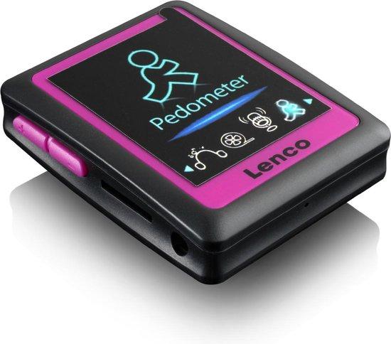 Lenco PODO-152 - MP4-speler - 4GB - Zwart/Roze