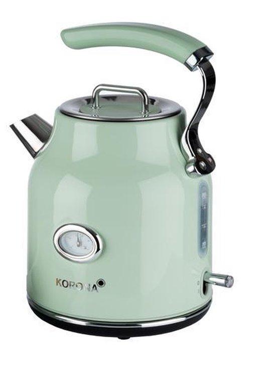 Korona 20665 retro waterkoker groen