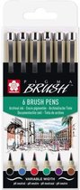 Sakura Pigma Brush 6 brush pens