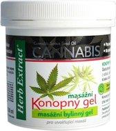 Herb Extract® Cannabis Massage Gel - 250ml - zeer geschikt voor - vermoeide - pijnlijke spieren -  gewrichten - pezen - vermindert stijfheid van gewrichten