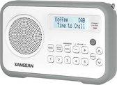 Sangean DPR-67 Radio - DAB+ - Wit / Grijs