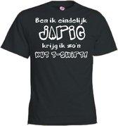 Mijncadeautje T-shirt - Jarig, kut T-shirt - Unisex Zwart (maat 3XL)