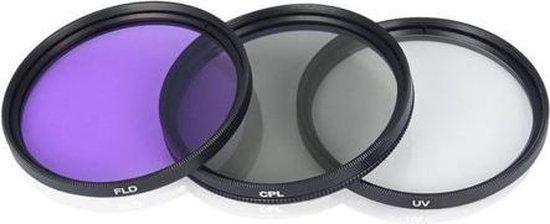 Camera Lens Filter Set 67MM - CPL/UV/FLD Magenta Filterset - Lensfilter Kit Met Beschermhoes