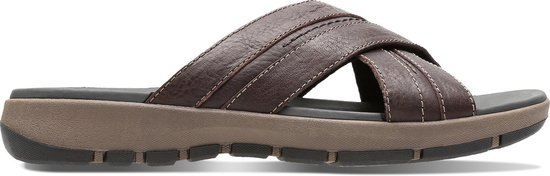 Clarks - Herenschoenen - Brixby Cross - G - dark brown leather - maat 11