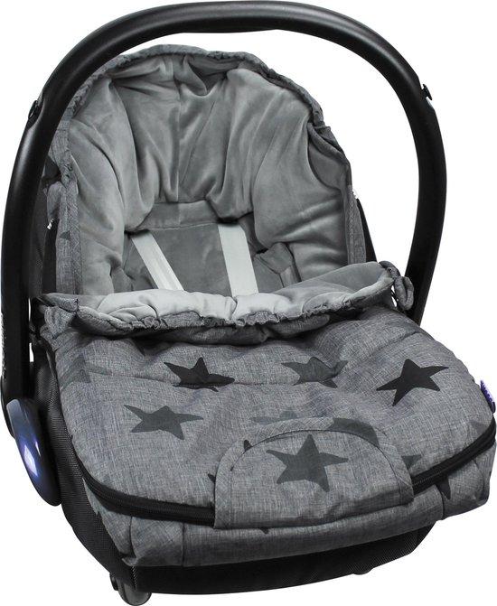 Product: Dooky Voetenzak - Small - Grey Stars, van het merk Dooky
