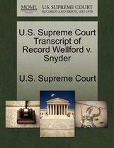 U.S. Supreme Court Transcript of Record Wellford V. Snyder