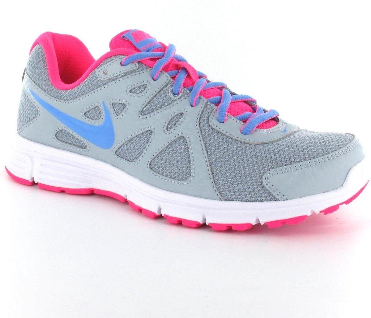 Nike Revolution 2 MSL Hardloopschoenen Neutraal Vrouwen Maat 37.5 Grijs Roze