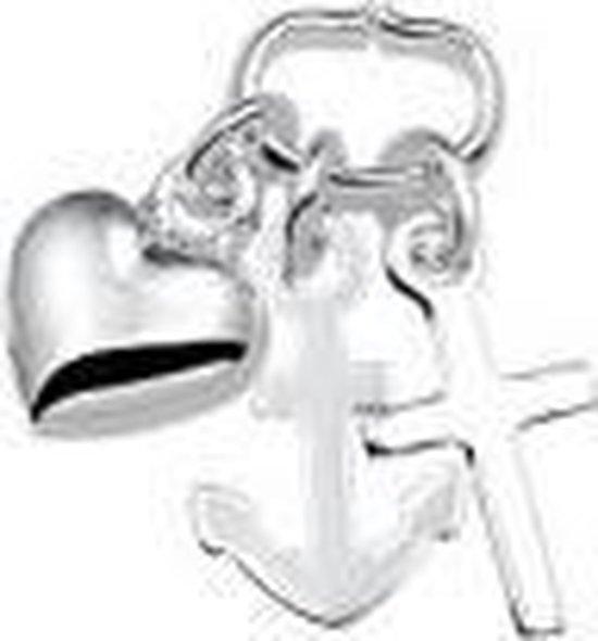 zilveren hanger geloof, hoop en liefde - Power of symbols