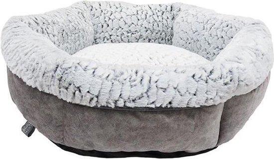 Rosewood hondenmand luxury plush rond grijs 48x48 cm