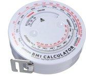 Omvangs Meetlint Met BMI Meter - Bereken Eenvoudig Uw Body Mass Index - Hulpmiddel Bij Afvallen - Alternatief Voor Huidplooimeter / Vetmeter