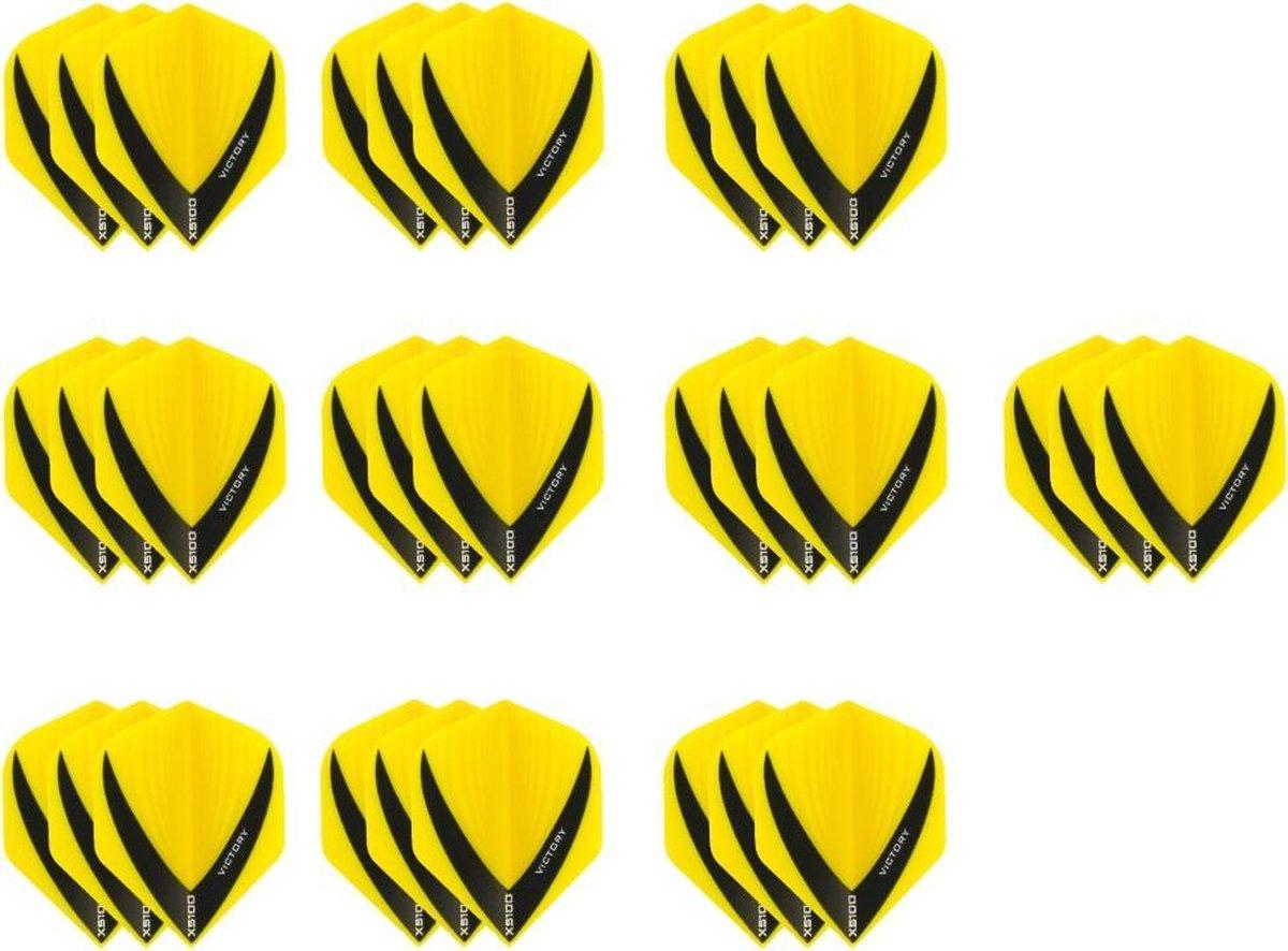 10 Sets (30 stuks) Stevige XS100 Vista - flights - Multipack - Geel