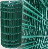 Tuingaas groen 60 cm | Rol 25 m. | 100 x 50 mm geplastificeerd