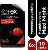 Kotex Maxi Night Maandverband 10x6