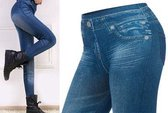 Slim jeans legging - blauw - maat S/M