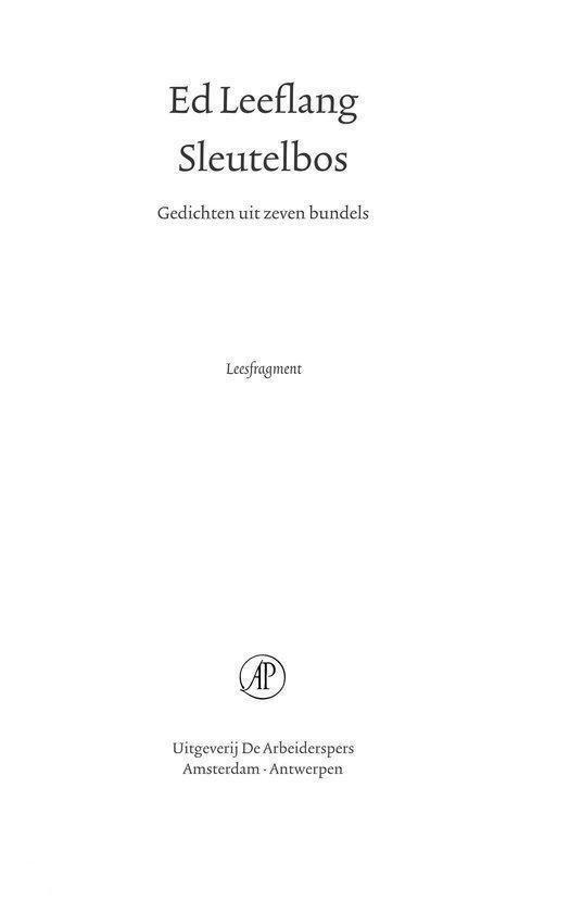 Sleutelbos - E. Leeflang  