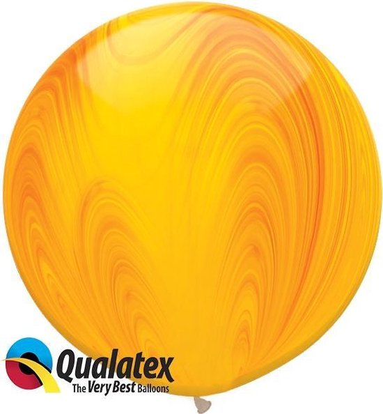 Marmer Print Oranje en Geel 75 cm (2 stuks)