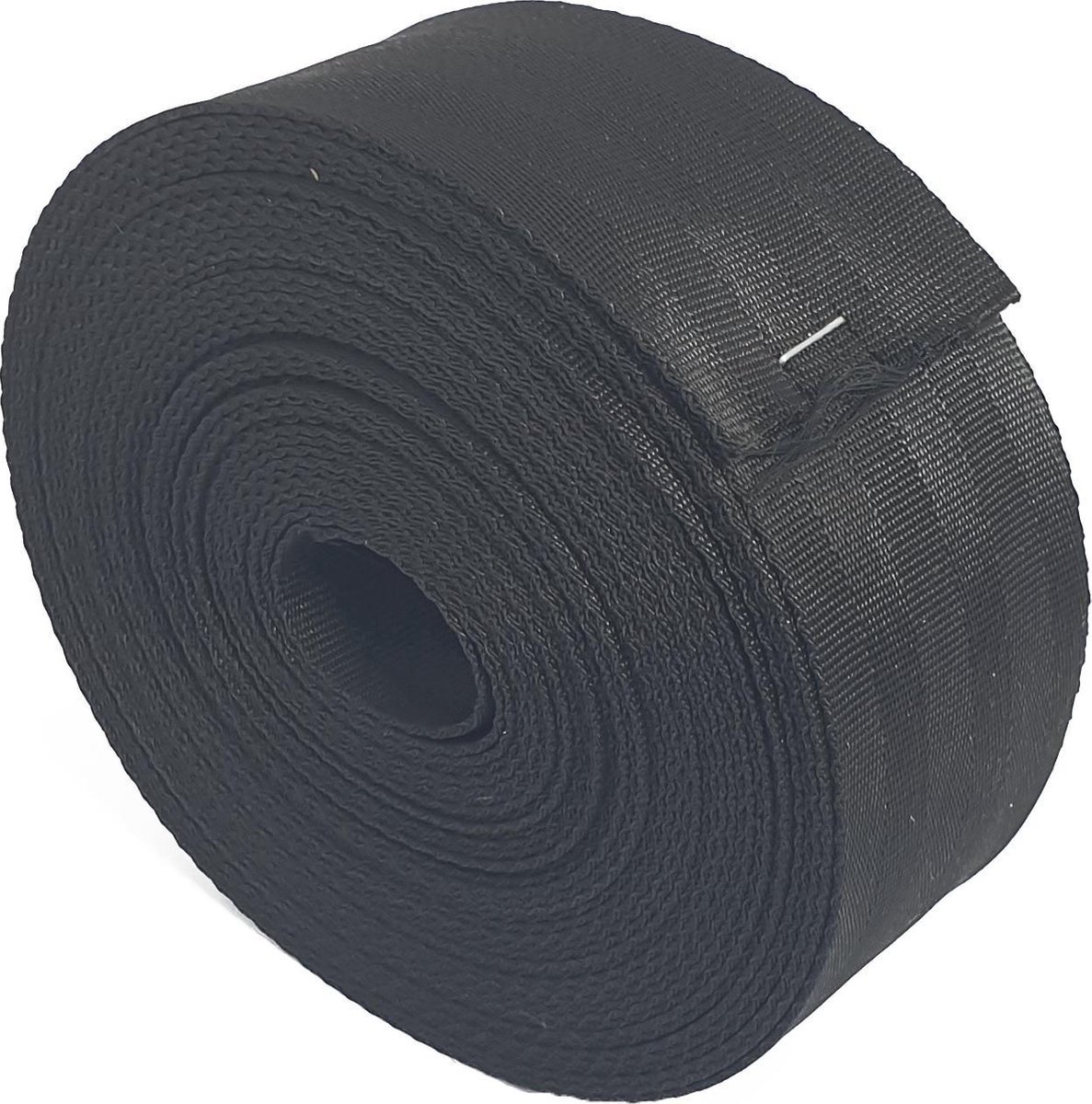 10 mtr -Boomband - Gordelband - 50 mm - zwart - autogordel