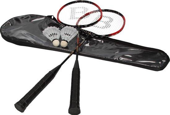 Pro Edition Bullet Badminton Set met Rackets en 2 Shuttles - 68 x 11 cm - Inclusief Draagzak