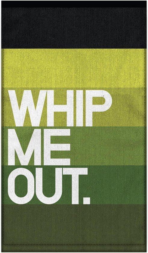 Knock Knock Whip Me Out. Bar Towel