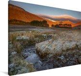 Uitzicht op het landschap bij het Nationaal park Brecon Beacons Canvas 60x40 cm - Foto print op Canvas schilderij (Wanddecoratie woonkamer / slaapkamer)